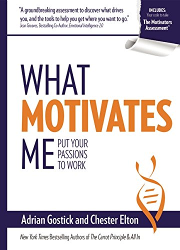 what motivates me What motivates me will help readers align the work they do every day, for the rest of their lives, with what truly motivates them it also includes a code to the motivators assessment.
