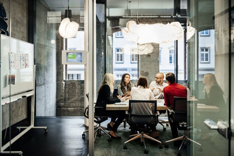 Business meeting in a modern office | Credit: Hinterhaus Productions