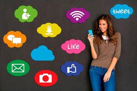 Woman and social network concept | Credit: Petar Chernaev