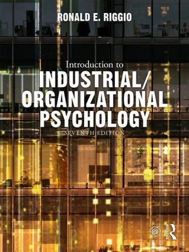 Book Review Introduction To Industrial Organizational Psychology